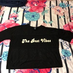 'the best vibes' tee